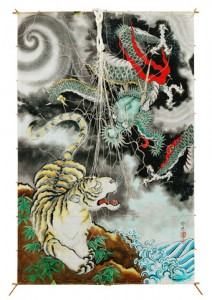 Edo kite -- Dragon and tiger