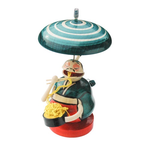 Japanese Edo Spinning Tops / Noodle Eater